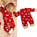 Product review for Sunsee Baby Girls Boys Christmas Deer Printing Jumpsuit Pajamas