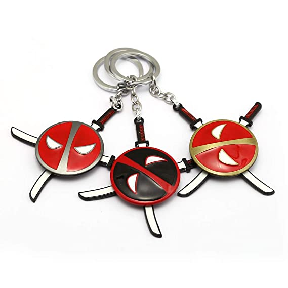 Mct12 - Rotatable Cartoon Anime Keychain Deadpool Llavero ...