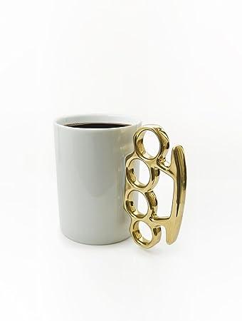 Schlagring Kaffeebecher, Weiß/Gold: Amazon.de: Küche & Haushalt