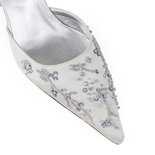 FARFALLA - Zapatos con correa de tobillo mujer Plateado - plateado/gris