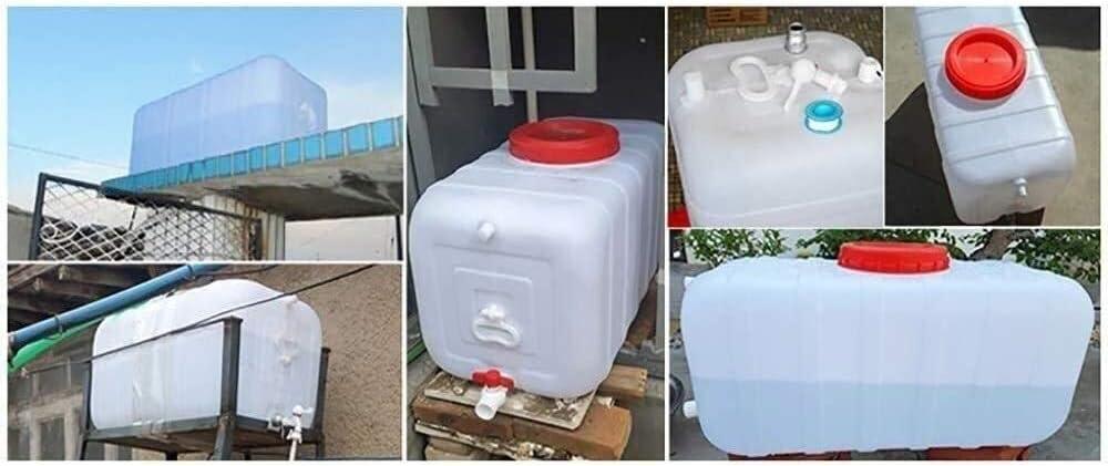 Contenedor de almacenamiento de agua con el grifo, Recorrido al aire libre del rectángulo azul del tanque de agua del cubo de agua, Espesar Industrial Química del barril de almacenamiento de agua