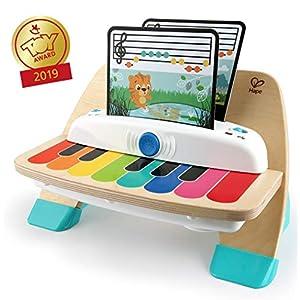 Baby Einstein 11649 Hape Magic Touch Piano, juguete musical de madera, inluye 3 partituras y 6 canciones diferentes, a partir de 12 meses, Talla Única