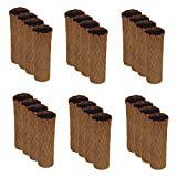 Meta-U- Acrylic Fibers Furniture Socks-Chair Leg Cover-Floor Protector-With Non-Slip Rubber Strips- Reduce Noise and Scratches-Wearable|Washable-For Table|Chair|Dresser-24Pcs(Diamond Pattern-Brown)