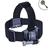 Universal Comfort Head Strap Action Camera Mount with Stretch-Fit Band by USA Gear - Works With Sony 4K FDR-X1000V , HDR-AS100V , HDR-HDR-AZ1 and More