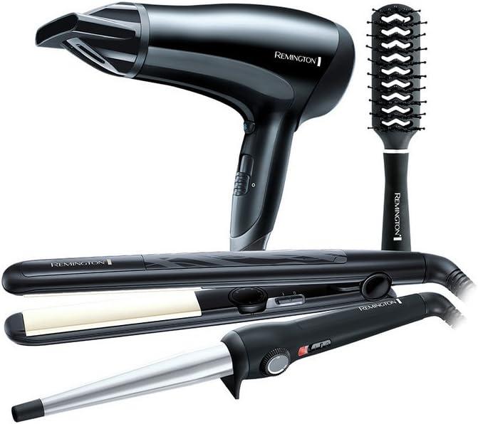 Remington - Set de regalo con secador de pelo, rizador, plancha y cepillo: Amazon.es: Belleza