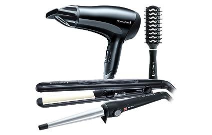 Remington - Set de regalo con secador de pelo, rizador ...