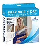 Blue Jay Keep Nice n' Dry Cast and Bandage Protector, Adult Foot, Watertight Seal, Latex-Free and Reusable, Easy Application Single Hand Operation, 1-Year Warranty, Cast Protector for Shower