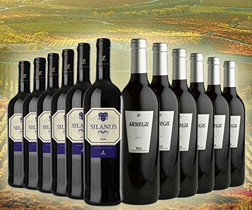 Pack D.O. Rioja COSECHA (6 Botellas de Silanus y 6 Botellas de Armegil) y de Regalo un Aireador Escanciador: Amazon.es: Alimentación y bebidas