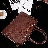 ZYSUN Laptop Tote Bag,15.6 in Women PU Leather