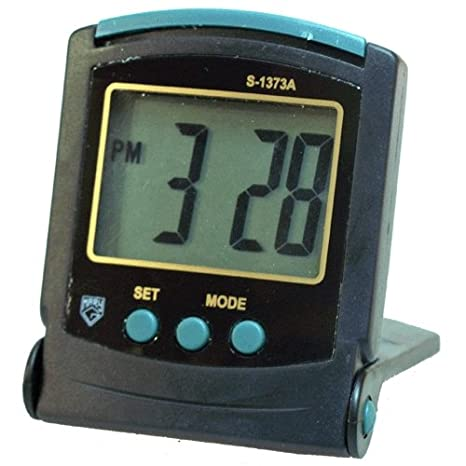 Reloj despertador plegable de viaje - Tamaño pequeño - Números grandes - Mary-G Mod. S-1373A: Amazon.es: Hogar