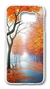 Brian114 Case, S6 Case, Samsung Galaxy S6 Case Cover, Beautiful Autumn Retro Protective Hard PC Back Case for S6 ( white )