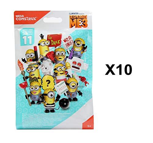 Despicable Me Mega Construx Minions 3 Series 11 Mini Figure Blind Bag Party  Favours - Pack of 10