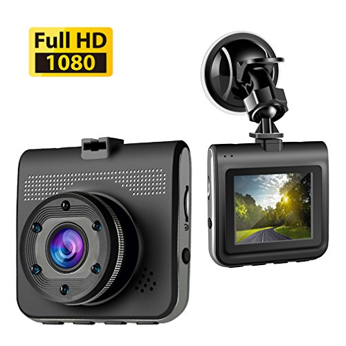 Accfly Dash Cam Vehicle DVR,HD 1080P Car Dual,Rear Camera,140 Degree Wide Angle, Night Vision,Loop Recording, Motion Detection ,G-sensor (Style 2) with LDWS & FCWS (style2)