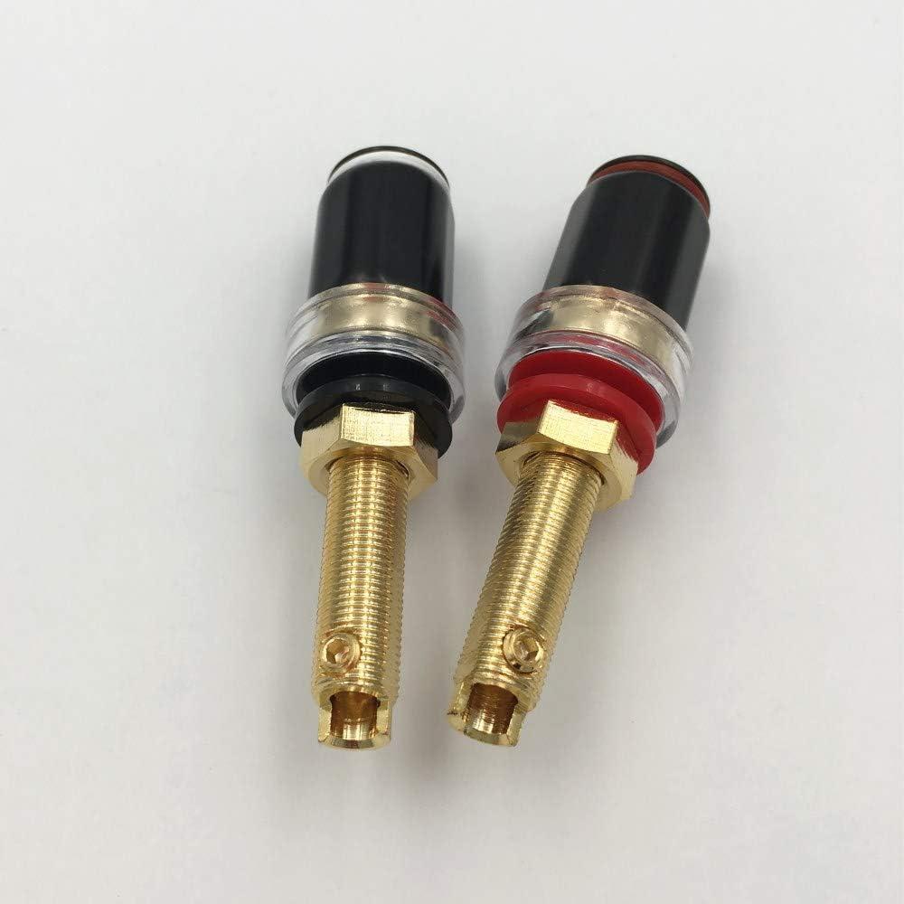 10Pcs Brass Crystal Binding Post for Thread Audio Speaker Amplifier 4mm Banana Plug Terminals Connector Long Type Mercury/_Group Audio Plugs