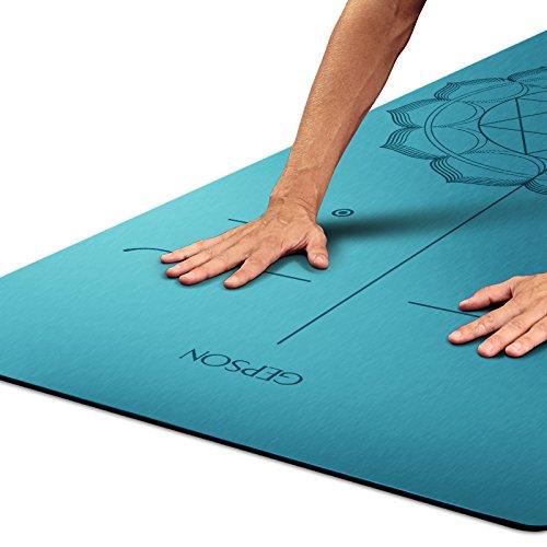 YOOMAT 7mm de Caucho Natural de la Estera del Yoga, Fitness ...