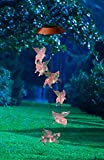 When Pigs Fly Solar Mobile Wind Chime