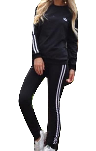 26c953b1 Image Unavailable. Image not available for. Color: ainr Women Sports  Pullover Hoodie Tracksuit Sweat Pants Set 2 Pcs ...