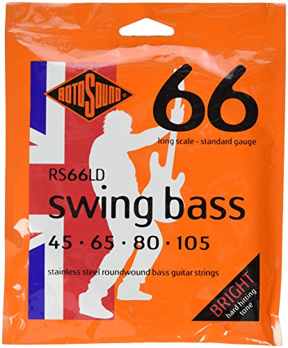 Rotosound Swing Bass 66 Long Scale Bass Guitar Strings (RS66LD, Standard)