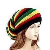Reggae Baggie Beanie Hat Rasta Colors