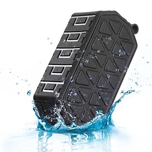 SAVFY IPX6 Wasserdichte Lautsprecher Bluetooth 4.1 Musik Box mit bluetooth für Handy Outdoor Speaker mit 6W Ausgang, Schwarz