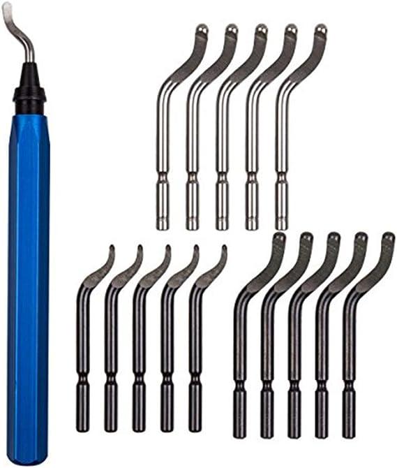 Wood Plastic Copper Carkio Metal Deburred Tool Kit 10 Pcs HSS Deburring Blades Cutters BS1010 for Aluminum