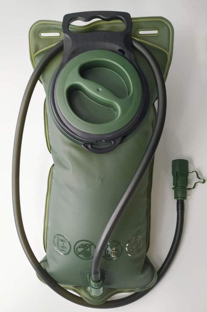 bolsa de almacenamiento de agua de 2 l port/átil Bolsa de hidrataci/ón para senderismo para deportes al aire libre color azul sin BPA bolsa de hidrataci/ón de 3 l antifugas correr escalada para equitaci/ón