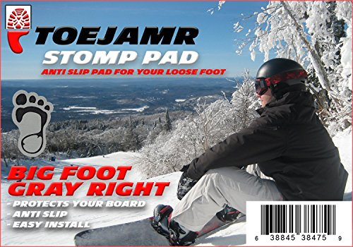 ToeJamR Snowboard Stomp Pad Bigfoot Gray (right)