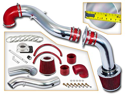 Rtunes Racing Cold Air Intake Kit + Filter Combo RED Compatible For 98-03 Compatible Ford Escort ZX2 2.0L L4 ()