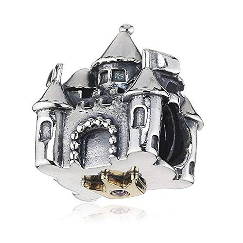Silver Castle Charm Bead Sterling Charm Fits Woman Similar Bracelets