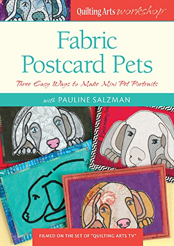 Fabric Postcard Pets Three Portraits