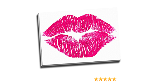 Pink Lips and Nails 5 Pieces Canvas Art Print Picture Poster Wall Home Decor
