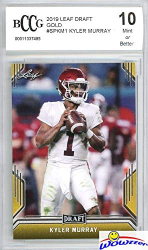Kyler Murray 2019 Leaf Draft GOLD # SP-KM1 FIRST EVER PRINTED ROOKIE Card Graded HIGH BECKETT 10 MINT! Awesome High Grade ROOKIE Card of Arizona Cardinals Quarterback #1 NFL Draft Pick! WOWZZER!