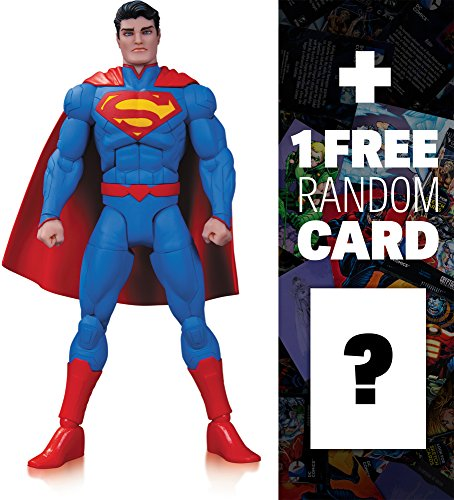 "Superman by Greg Capullo: ~6.5"" DC Comics Designer Series Action Figure + 1 FREE Official DC Trading Card Bundle (34245)"
