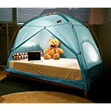 TQUAD Floorless Indoor Privacy Tent on Bed for Insulation Warm Sleep in Drafty Room Saves on Heating bills (Medium, Mint)