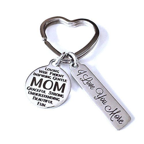 Mom, I Love You More, Laser Etched Keychain, Mothers Day, Gift for Mom
