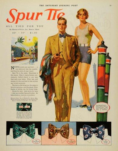 1929 Ad Spur Tie Orlando Daytona Miami Men's Fashion - Original Print - Miami Mens Fashion