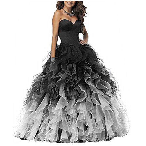 long black puffy prom dresses - 7