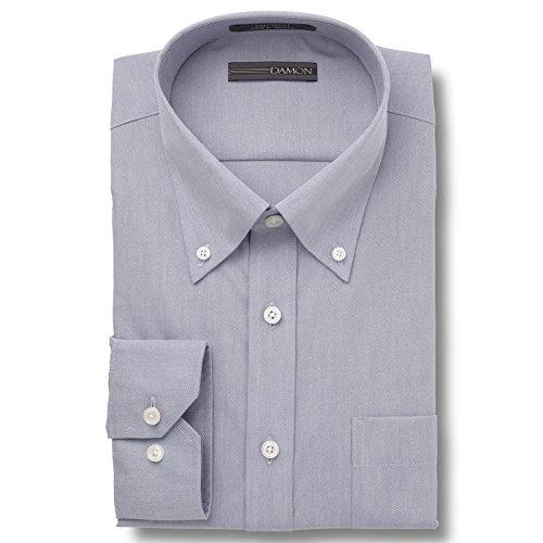 (Damon Ultra Pinpoint Dress Shirt | Button Down Collar Med. Blue 16 x 34/35)