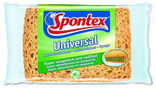 Spontex 19111301 Universal Haushaltsschwamm extra saugstark und reißfest. 3 Stück