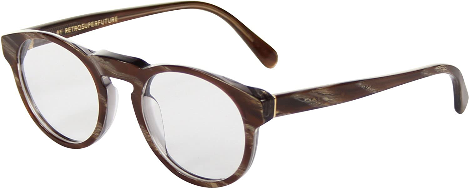 9e8265dfa9e Amazon.com  Super Eyeglasses SUFAV Paloma Optical Natural Horn by  RETROSUPERFUTURE  Clothing