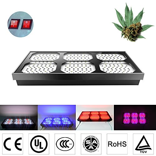 Eonstar® Full Spectrum Hydroponic LED Grow Light SC900 300x3w Chips with Aluminum Material, 4 Switches for Each Channel