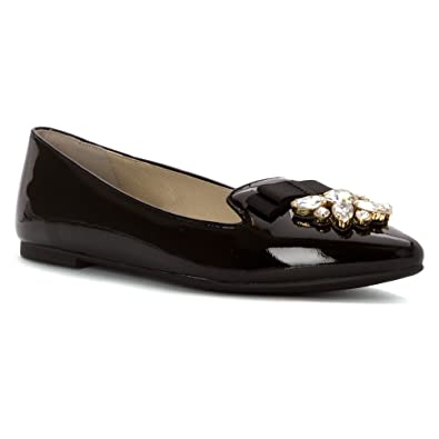 d66b0144c425 Michael Michael Kors Felicity Flat Women US 10 Black Flats  Amazon ...