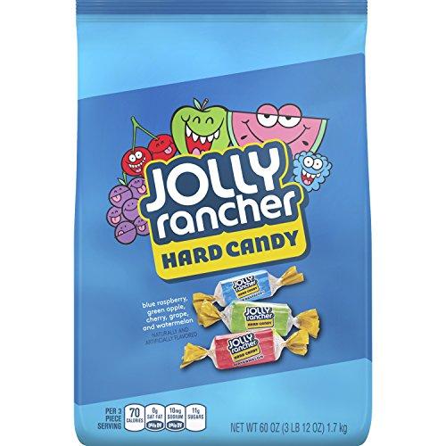 JOLLY RANCHER Hard Candy, Assortment (Watermelon, Apple, Cherry, Grape, Blue Raspberry), 60 Ounce Bag (Pack of 2)