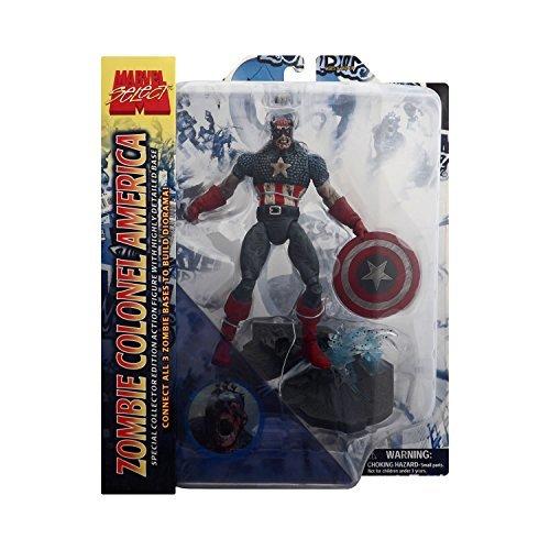 Marvel Select Zombie Colonel America Figure - Captain America Zombies Comic Series