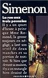 La rue aux trois poussins par Simenon