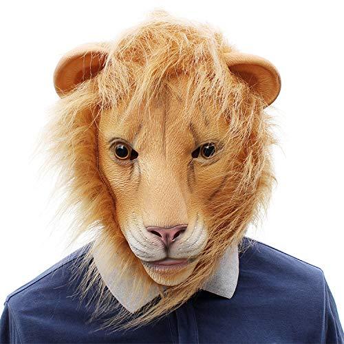 Halloween Cosplay Bar Party Funny Animal Lion Latex Mask -