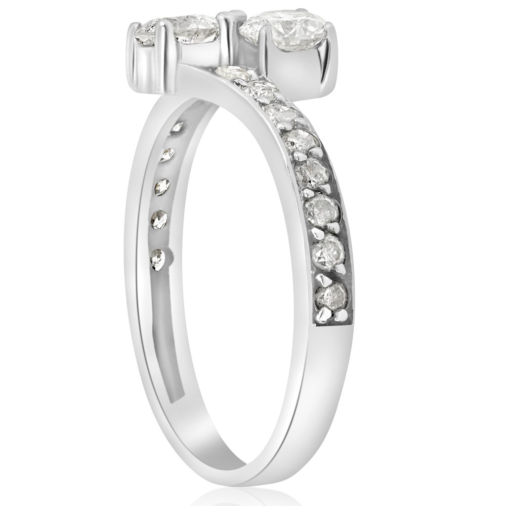 1 Carat Forever Us Diamond Two Stone Engagement Ring 10K White Gold by Pompeii3 Inc. (Image #1)