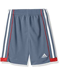 Little Boys' Athletic Short, Grey/Red, Grey/Red