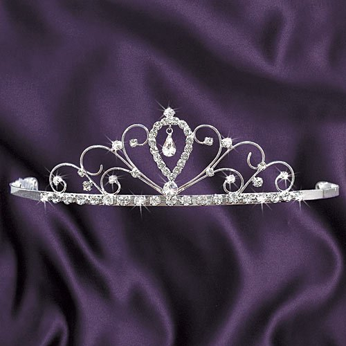 Stumps Jeweled Princess Tiara Princess Queen Crown Silver -