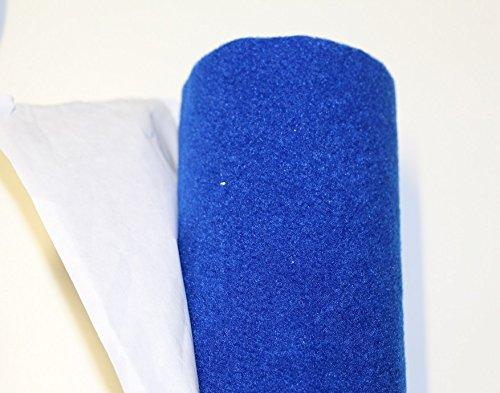 Moquette adesiva liscia da 65x151 cm di colore blu Black music